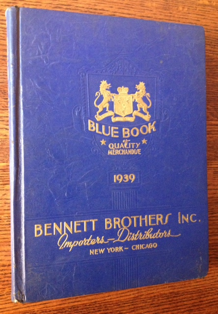 Bennett Brothers Inc: Diamond Importers--Merchandise Distributors (1939 Blue Book of Quality Merchandise).