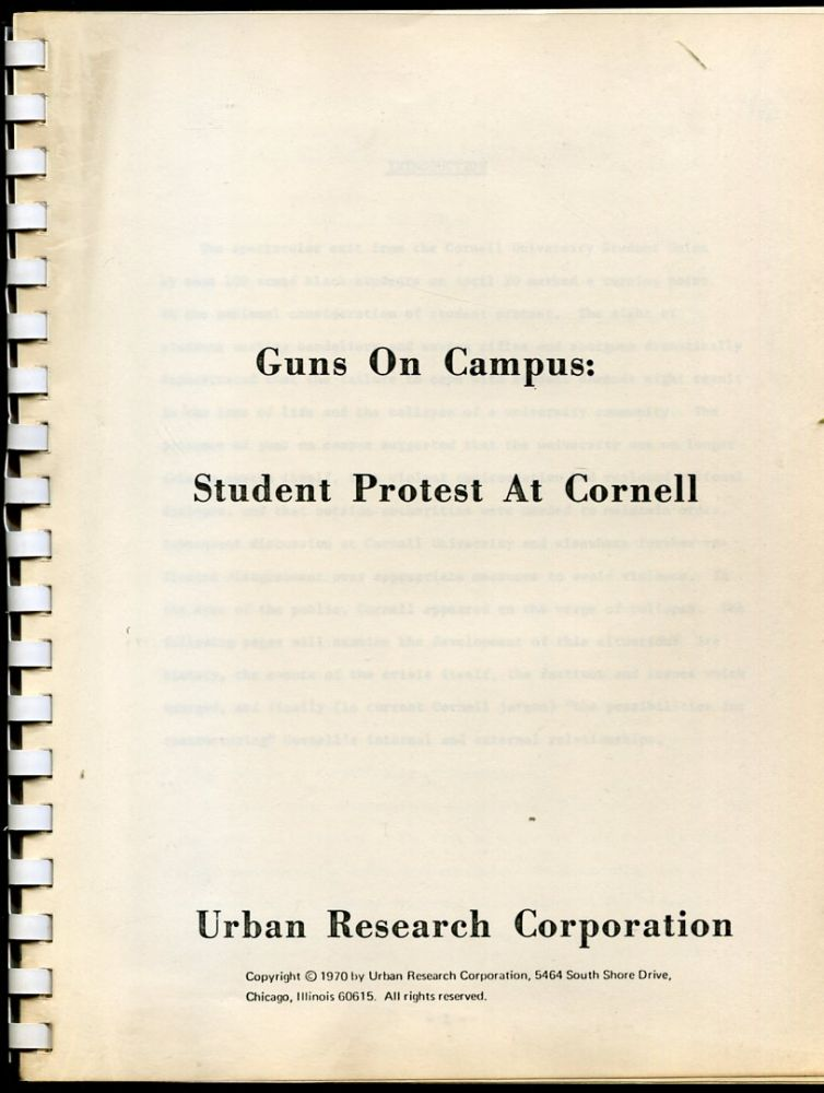 Guns on Campus: Student Protest at Cornell.