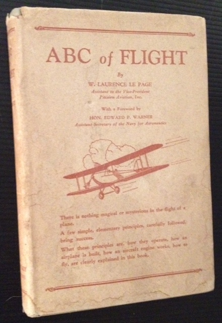 ABC of Flight (in Dustjacket). W. Laurence Le Page.