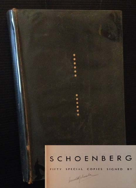 Schoenberg (The Signed/Limited). Ed Merle Armitage.
