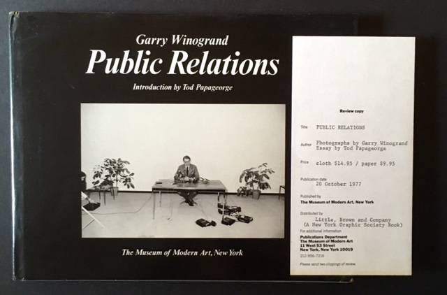 Public Relations (Review Copy). Gary Winogrand.
