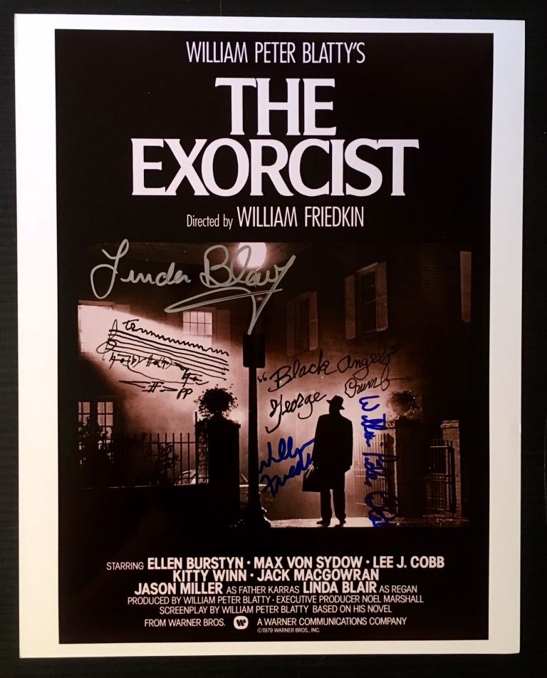 The Exorcist (Signed Photograph of the Original Poster).