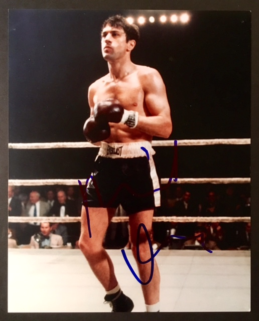 Signed Photograph of Robert DeNiro in the Ring as Boxer Jake LaMotta by on  Appledore Books