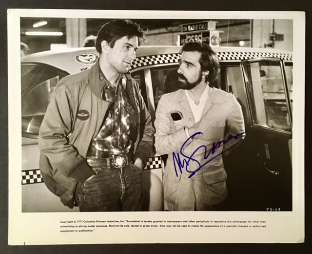 """Studio photograph of Robert DeNiro and Martin Scorsese Discussing a Scene from """"Taxi Driver"""", Signed by Martin Scorsese."""