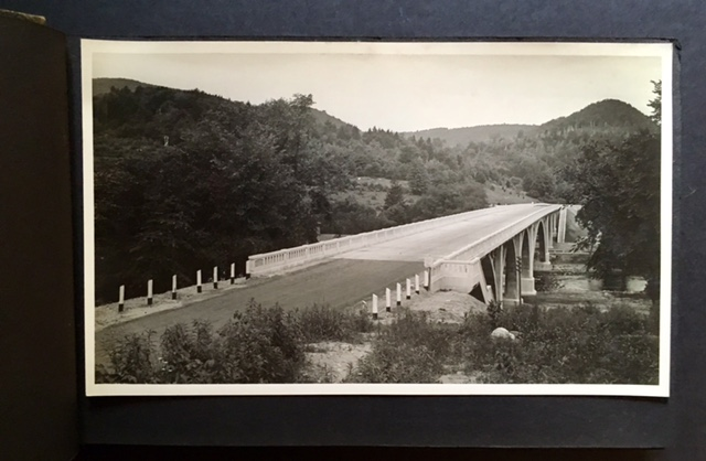 Early 20th Century Photo Album Depicting Mostly Connecticut Bridges in Their Various States of Construction.