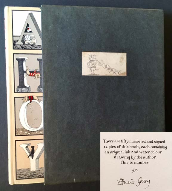 Amphigorey (The Uncommon Signed/Limited Edition in Slipcase, Only 50 Copies Issued). Edward Gorey.