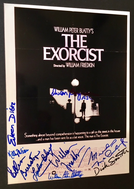 Signed Photograph of the Original Poster of The Exorcist.