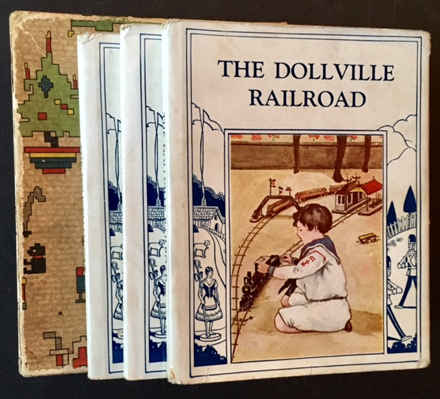 The Toyland Series (The First 3 Vols): The Unhappy Paper Doll, The Policeman Cat and The Dollville Railroad -- All in Dustjackets and Including the Publisher's Orginal Box. Josephine Lawrence.