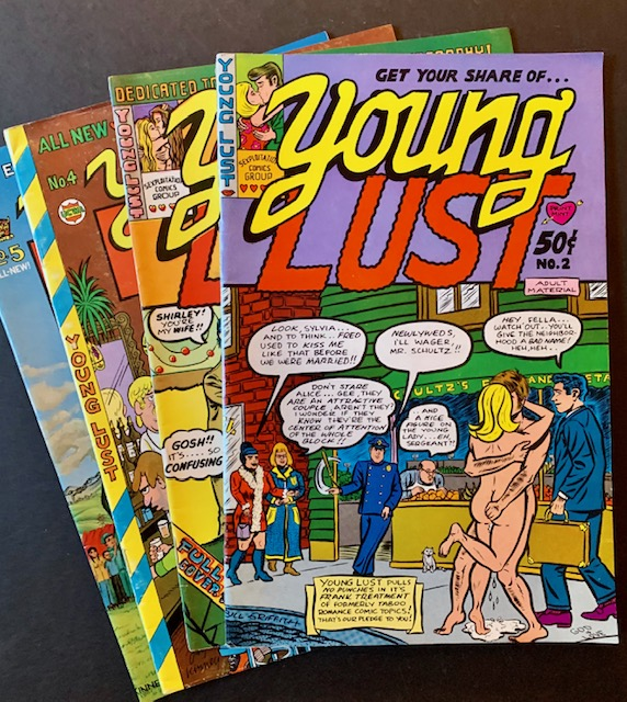 Young Lust #2, #3, #4 and #5 (4 Issues). Jay Kinney Bill Griffith, Art Speigleman.