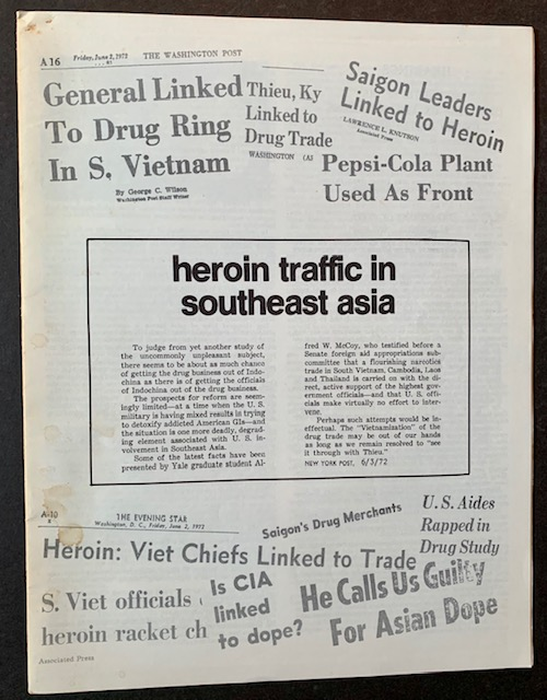 Heroin Traffic in Southeast Asia. Alfred McCoy.