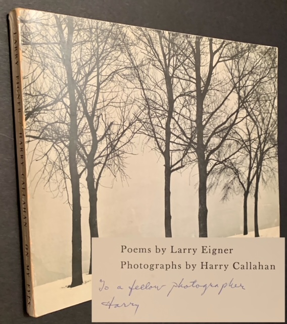 On My Eyes (Inscribed by Harry Callahan). Larry Eigner, Harry Callahan.