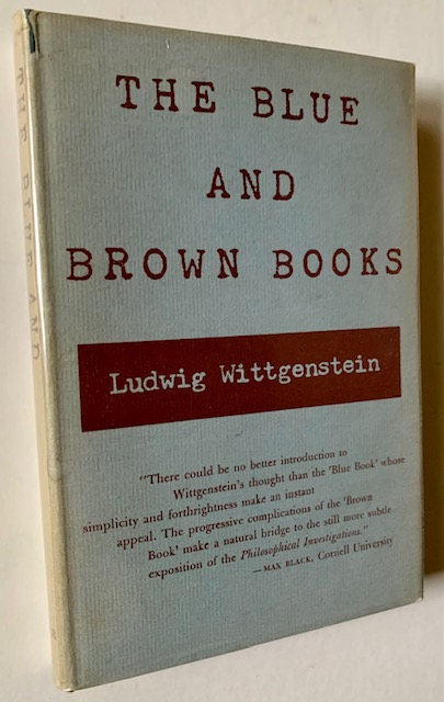The Blue and Brown Books. Ludwig Wittgenstein.