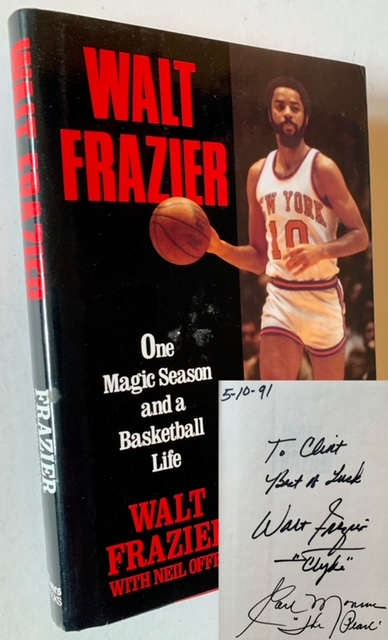 One Magic Season and a Basketball Life (Signed by Both Walt Frazier and Earl The Pearl Monroe). Walt Frazier, With Neil Offen.