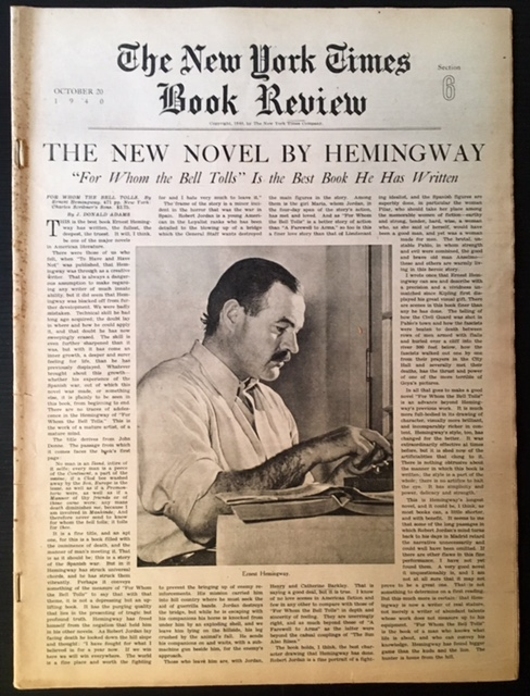 The New York Times Book Review--October 20th, 1940.