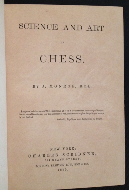 Science and Art of Chess. J. Monroe.