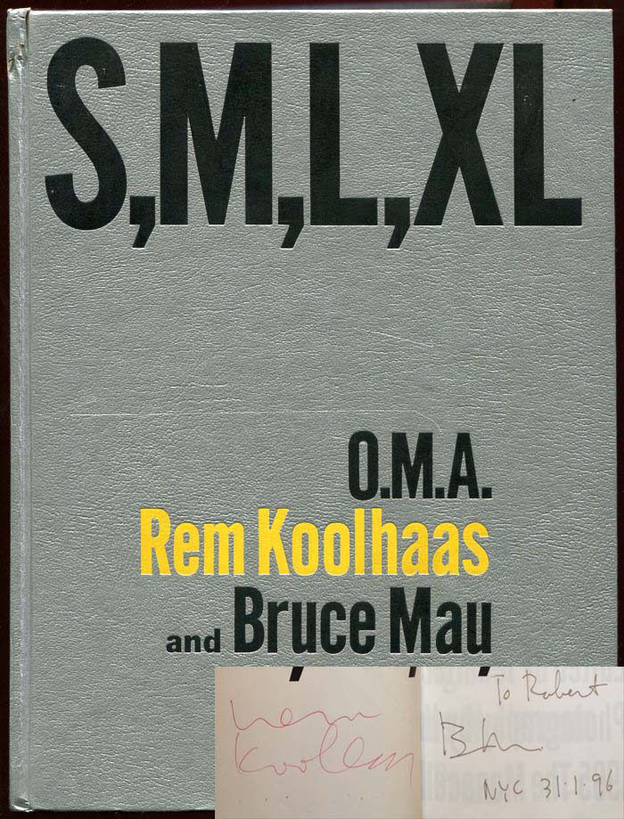 S, M, L, XL. Rem Koolhaas Office for Metropolitan Architecture, Bruce Mau, OMA.