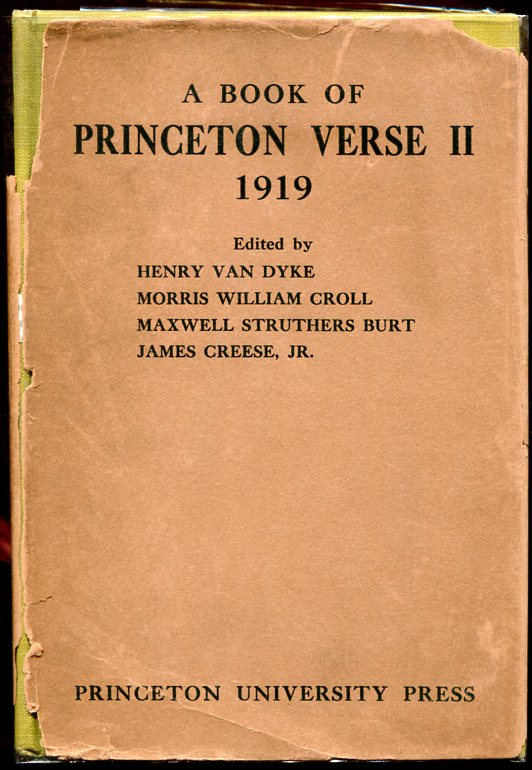 A Book of Princeton Verse II (Fitzgerald's First Appearance in Book Form).