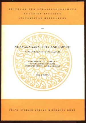 Vijayanagara--City and Empire: New Currents of Research (2 Vols