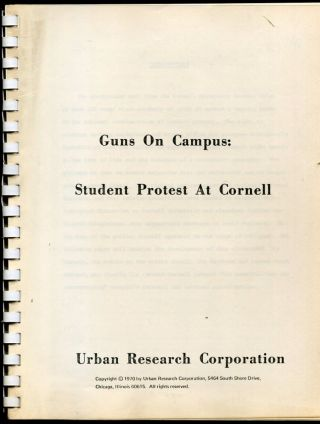 Guns on Campus: Student Protest at Cornell