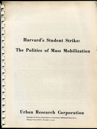 Harvard's Student Strike: The Politics of Mass Mobilization