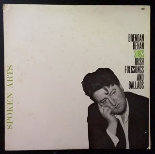 Brendan Behan Sings Irish Folksongs and Ballads (LP Record