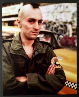 Signed Photograph of Robert De Niro as a Menacing Travis Bickle