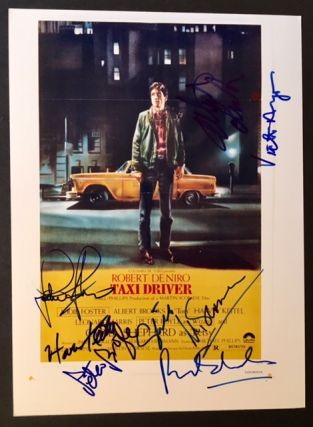 "Signed Photograph of the Original Poster of Martin Scorcese's ""Taxi Driver"""