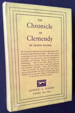 The Chronicle of Clemendy. Arthur Machen