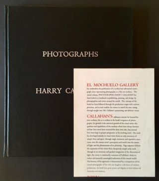 Harry Callahan Photographs (With Publisher's Original Prospectus). Harry Callahan