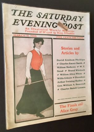 The Saturday Evening Post -March 21st, 1903 (Alice Gray --Woman Golfer-- on the Cover