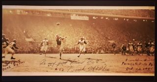 "Orignal Signed Photograph of ""The Catch That Beat Penn"" (Princeton-Penn Football Game, Oct. 13th..."