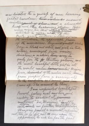 The Works of Booth Tarkington (The Autograph Edition--Complete in 12 Vols., Lettered, in Full Levant Morocco and Including a Tipped-In Manuscript Page)