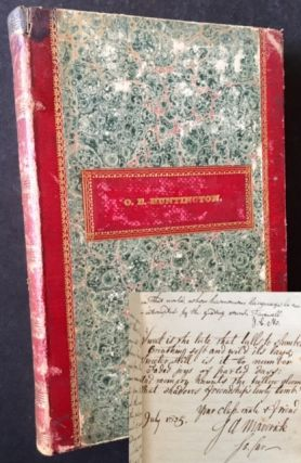 The 1825 Yale College Yearbook (The Class of Samuel Augustus Maverick -- Original Signer of the...