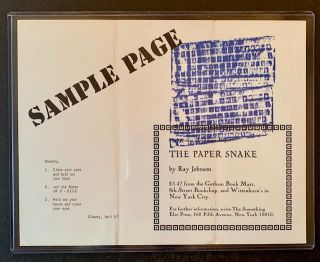 The Paper Snake (The Limited Edition--With Artwork and Additional Ephemera)