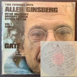 Two Evenings with Allen Ginsberg -- Peter Orlovsky, Gregory Corso, Steven Taylor (LP Record