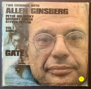 Two Evenings with Allen Ginsberg -- Peter Orlovsky, Gregory Corso, Steven Taylor (LP Record)