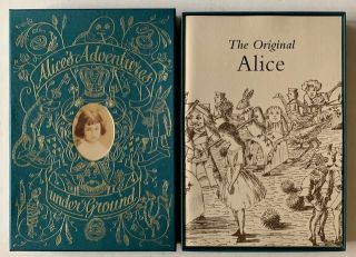 Alice's Adventures Underground + The Original Alice (in Publisher's Box). Lewis Carroll