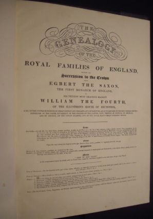 The Genealogy of the Royal Families of England, Showing the Succession to the Crown from Egbert...