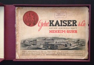 Kaiser & Co. Aktien-Gesellschaft (Trade Catalogue