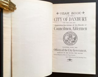 Year Book of the City of Danbury from 1900 and 1901