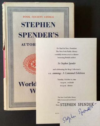 World Within World: The Autobiography of Stephen Spender. Stephen Spender